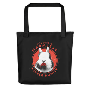 Harmless Little Bunny Vampire Rabbit Tote Bag - conkberry