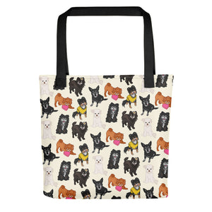Old Puppers in Cream Tote Bag - conkberry