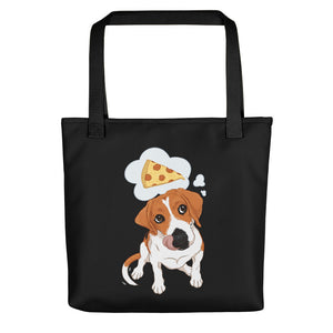 Hungry Beagle Dog Pizza Party Tote Bag - conkberry