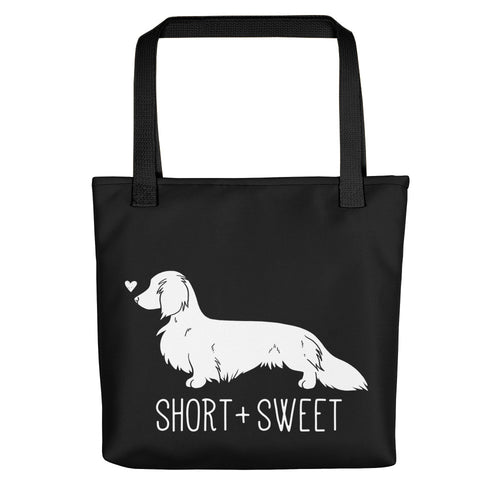 Short & Sweet Dachshund Dog Tote bag - conkberry