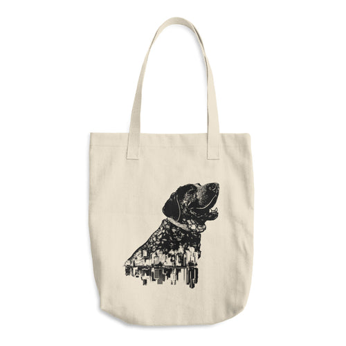 Smitty San Francisco Hound Cotton Tote Bag - conkberry
