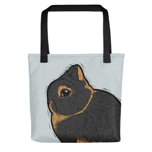 Netherland Dwarf Rabbit Tote Bag - conkberry