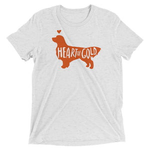 Heart of Gold Golden Retriever Unisex Triblend T-Shirt - conkberry