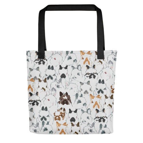 Jersey Wooly Takeover Rabbit Tote Bag - conkberry