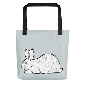 White Beveren Rabbit Tote Bag - conkberry