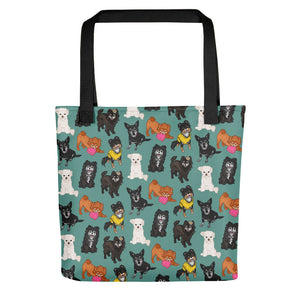 Old Puppers in Seafoam Tote Bag - conkberry