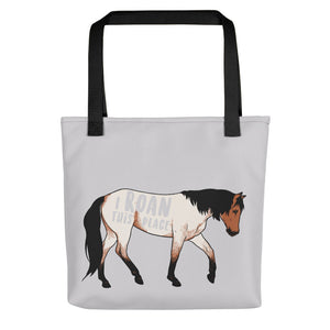 I Roan This Place Quarter Horse Tote Bag - conkberry