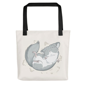 Chinchilla Dust Bath Dance Tote bag - conkberry