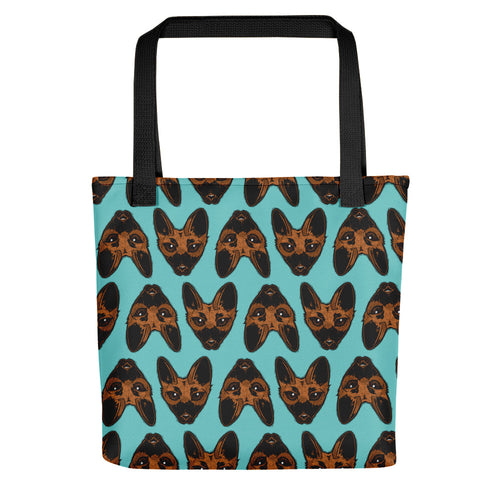 Belgian Malinois Woodcut Style Tote Bag - conkberry