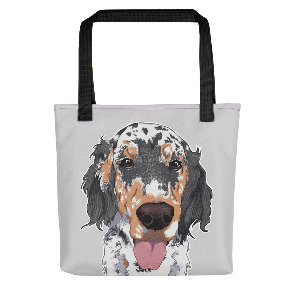 English Setter Dog Tote Bag - conkberry