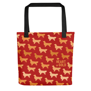 Heart of Gold Golden Retriever Tote Bag - conkberry