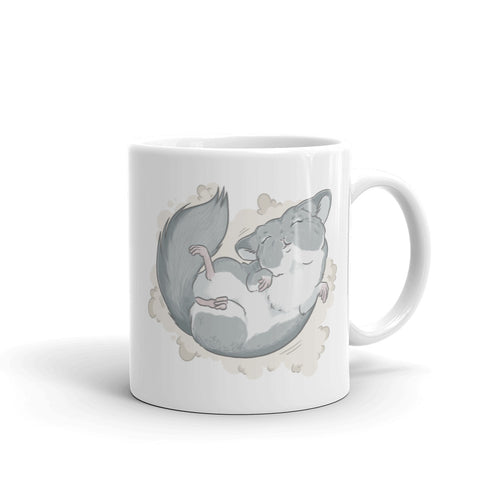Chinchilla Dust Bath Dance Ceramic Mug - conkberry