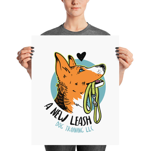A New Leash Dog Training Print - conkberry