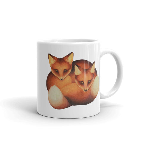 Red Foxes Ceramic Mug