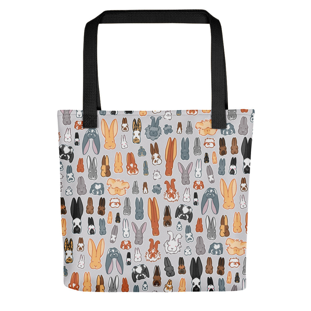 Who's Your Bunny ARBA Rabbit Breeds Tote Bag - conkberry
