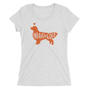 Heart of Gold Women's Unisex Triblend T-Shirt - conkberry