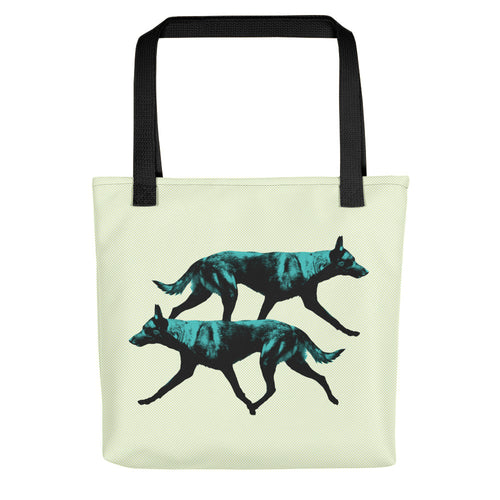 Double Malinois Dog Tote Bag - conkberry