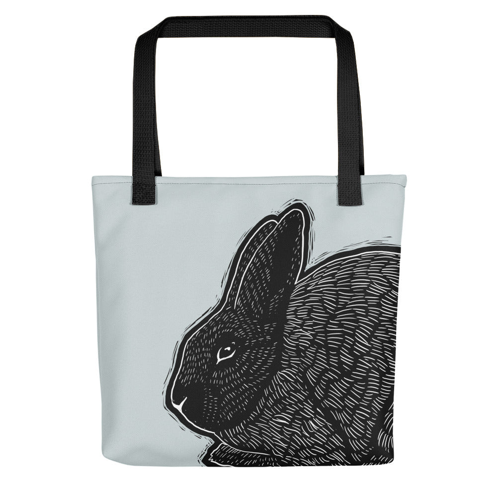 Silver Fox Rabbit Tote Bag - conkberry
