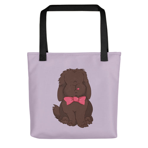 Dapper Mini Lop Rabbit Bow Tie Tote Bag - conkberry