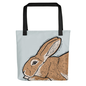 Flemish Giant Rabbit Tote Bag - conkberry