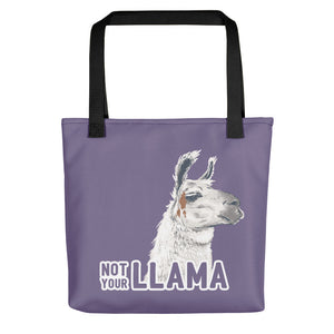 Not Your Llama Tote Bag - conkberry