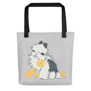 Jersey Wooly Flower Bunny Tote Bag - conkberry