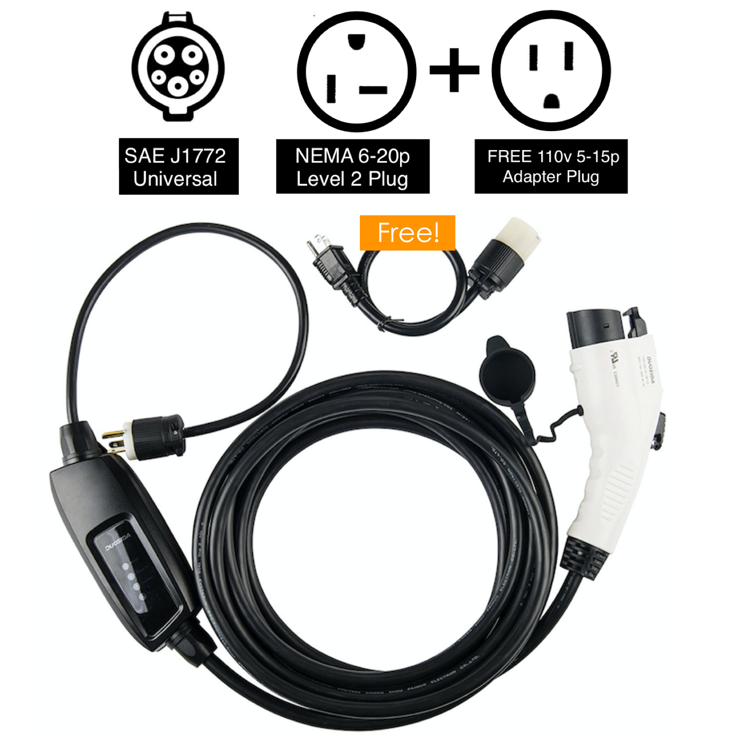 Excellent Duosida Electric Car Charger Level 1 And Level 2 Evse Ev Car Charger Wiring 101 Xrenketaxxcnl