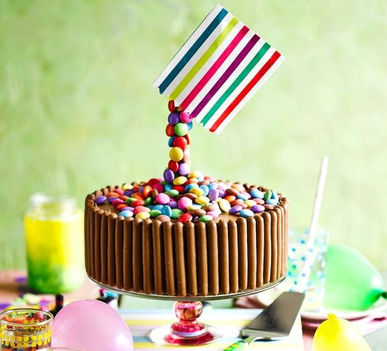 Gravity-defying Cadbury Chocolate Finger Cake with Nestle Smarties