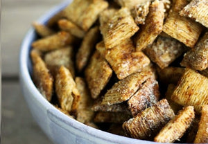 Shredded Wheat Cheddar Garlic Snacks