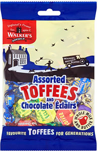 Walker's Nonsuch Assorted Toffee & Chocolate Eclairs 150G