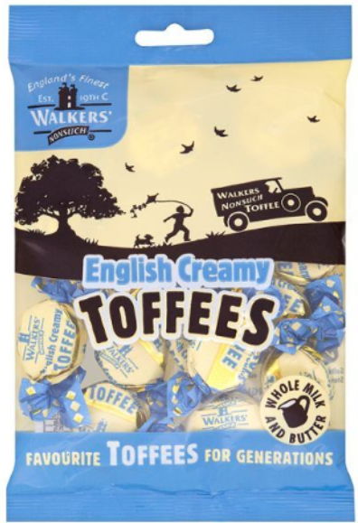 Walker's Nonsuch English Creamy Toffee 150G