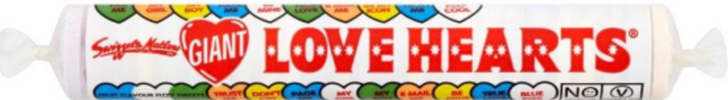 Swizzels Giant Love Hearts 38G