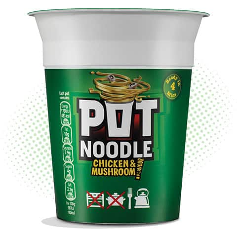 Pot Noodle Chicken and Mushroom 90g (best before Nov 2019)