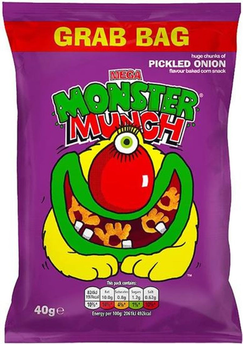 Monster Munch Pickled Onion 40G (best before 6 March 2021)