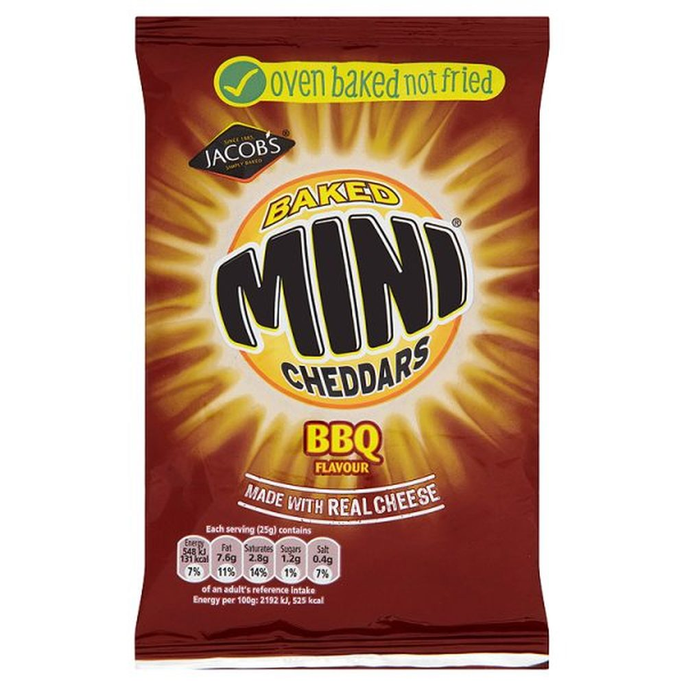 Mini Cheddars Saucy BBQ 50g