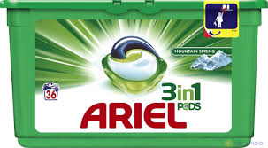 Ariel 3 in 1 Bio Capsules 36 Washes