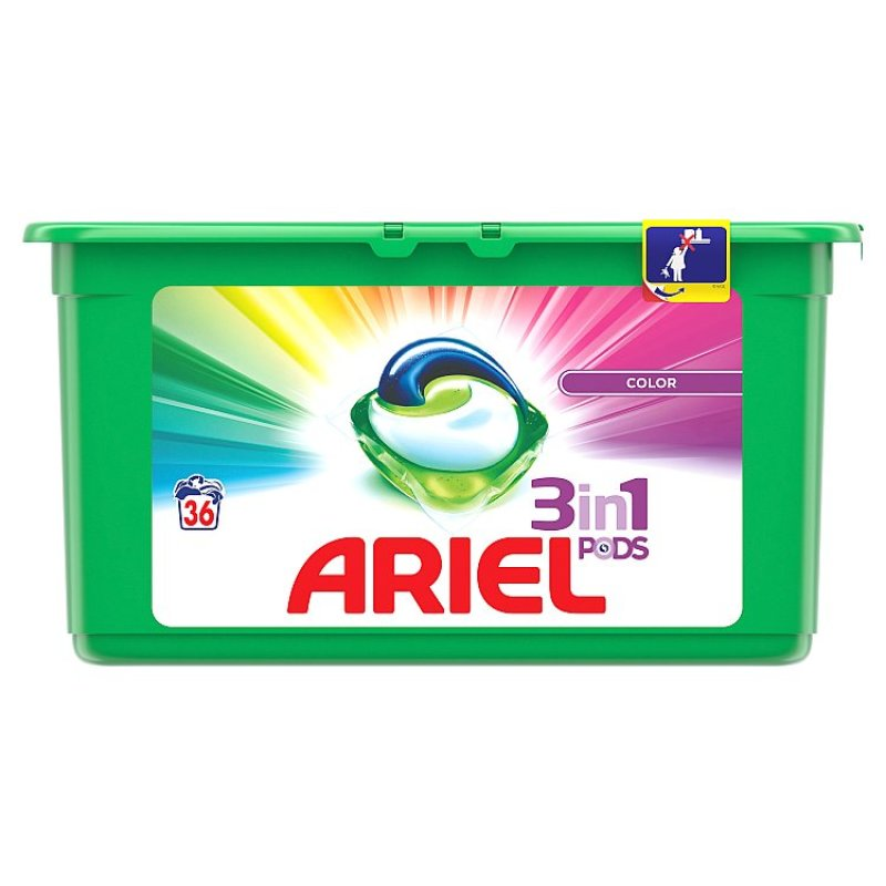 Ariel 3 in 1 Colour Capsules 36 Washes