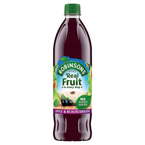 Robinsons Squash Apple & Blackcurrant No Added Sugar 1Ltr