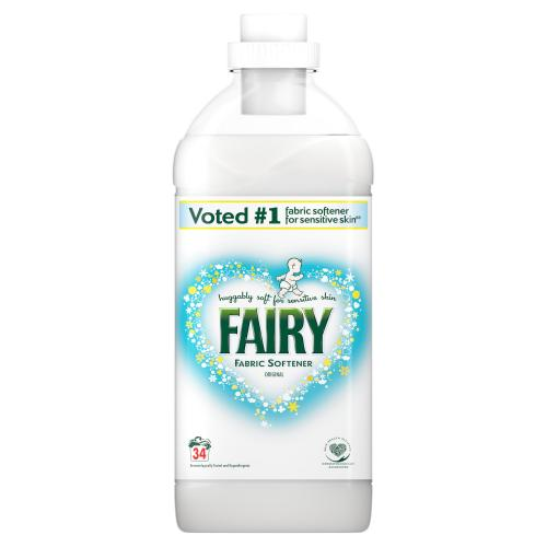 Fairy Fabric Conditioner Original Large Bottle 34 Washes 1.19L