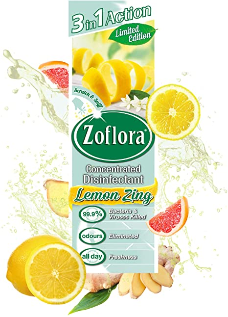 Zoflora Lemon Zing Concentrated Disinfectant 250ml