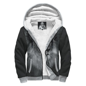 'King of Beasts' Sherpa-Lined Hoodie