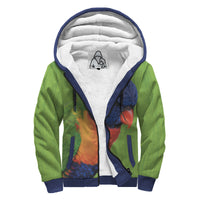 'Playful Parrot A' Sherpa-Lined Hoodie