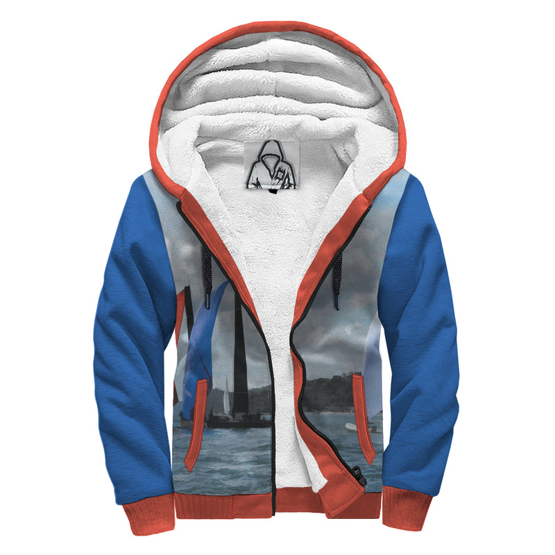 'Calm Sailing' Sherpa-Lined Hoodie