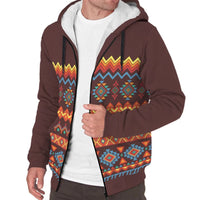 'Aztec Flair' Sherpa-Lined Hoodie The Hoodie Store