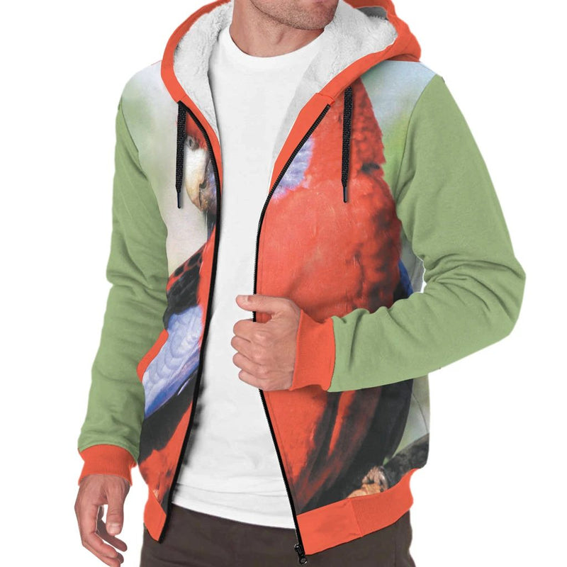 'Curious Parrot' Sherpa-Lined Hoodie The Hoodie Store