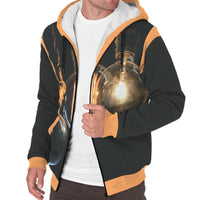 'Evening Glow' Sherpa-Lined Hoodie The Hoodie Store