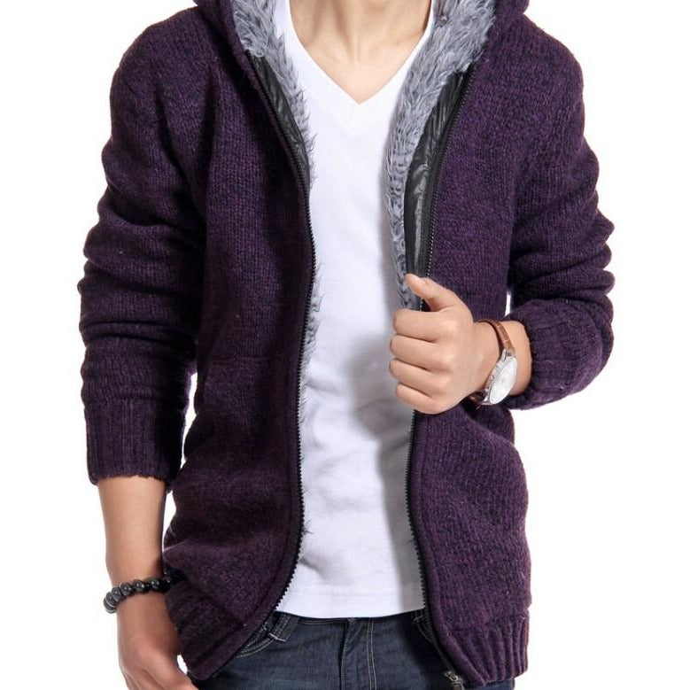 Mens Fur Lining zipper Hoodie - The Hoodie Store