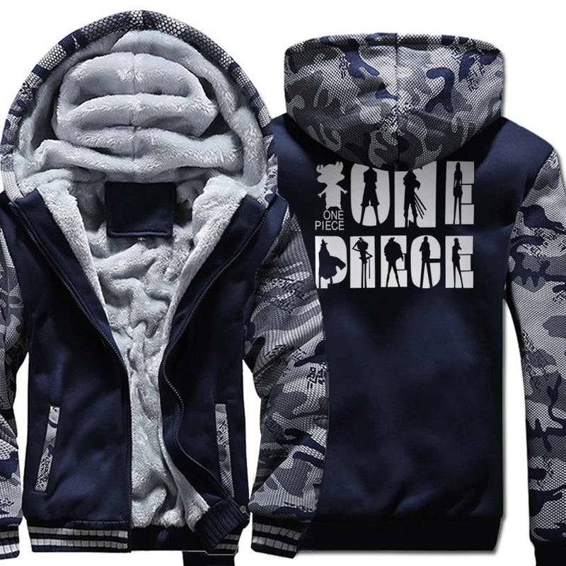 Thick Camouflage One Piece Fleece Hoodie