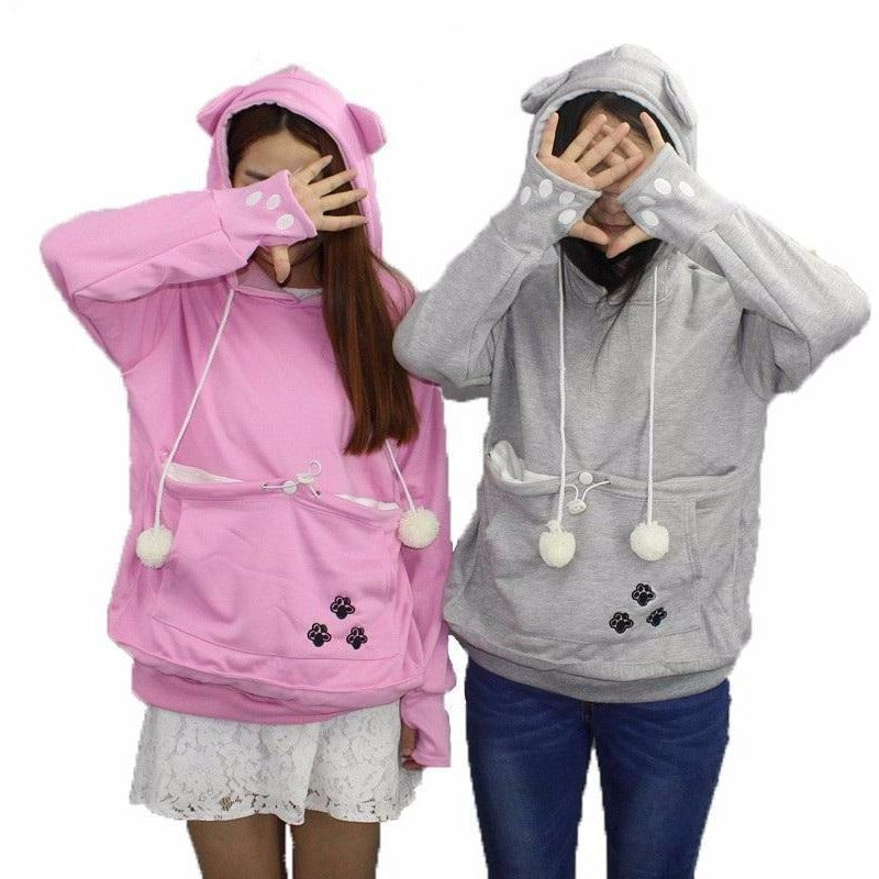 Cat Lovers Hoodie with Cuddle Pouch - The Hoodie Store