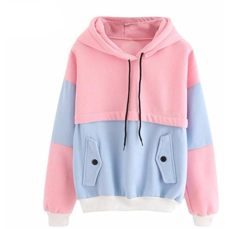 Cotton Drawstring Pastel Colours Hoodie - The Hoodie Store